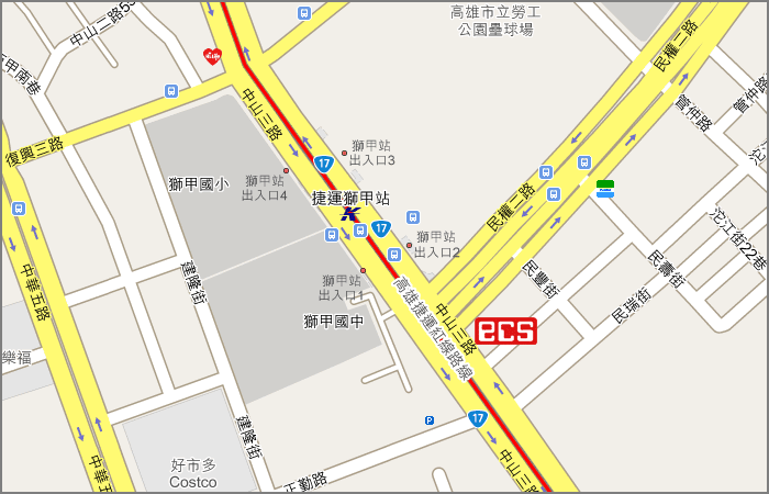 location map kaohsiung