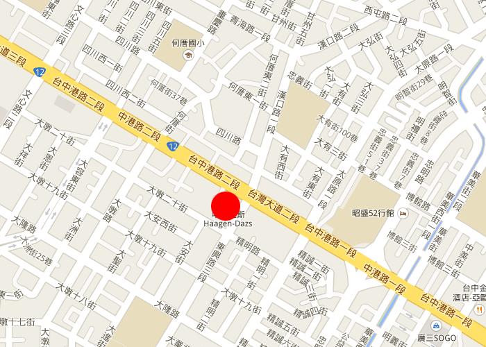 map taichung tempus hotel